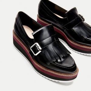Zara Kiltie Platform Loafers, Sz. 40